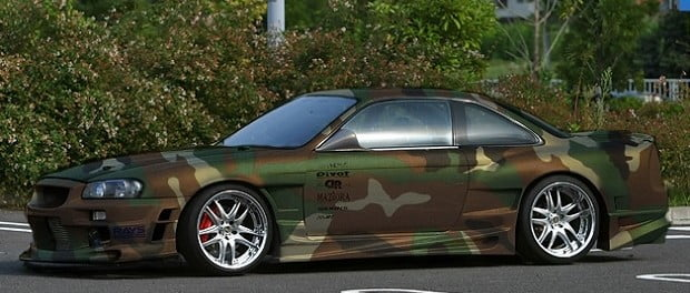 como pintar un auto de camuflaje
