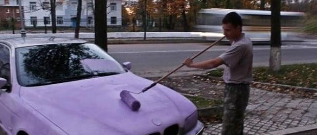 Gu a para pintar un coche con rodillo a mano - Como pintar con rodillo ...