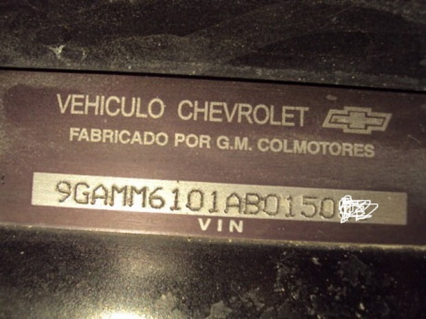 Números de identificación vehicular | Pruebaderuta.com